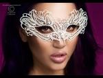 Изысканная белая карнавальная маска Chilirose