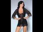 Сексапильный комплект для сна Melisenda: пеньюар, сорочка, трусики-стринги. #74299
