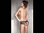 Полупрозрачные трусики Tess с кисточкой на попке и интимным доступом