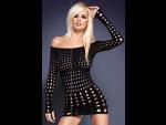 Платье-сетка Rocker с длинными рукавами