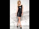 Эротическое wet-look платье со шлейфом Jasmin