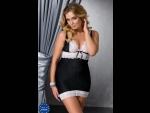 Женственная сорочка Camille с кружевной отделкой #76369
