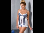 Коротенькая сорочка Eleni со шнуровкой по всей длине #76381