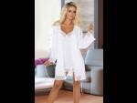 Ночной комплект Jane: пеньюар и сорочка с кружевами #77408