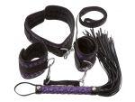 Чёрно-фиолетовый набор для бондажа Bondage Set #78632