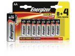 Батарейки Energizer Max E91/АА 1.5V - 8+4 шт. #78783