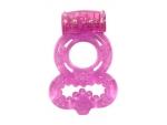 Розовое эрекционное кольцо Rings Treadle с подхватом