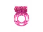 Розовое эрекционное кольцо с вибрацией Rings Axle-pin #80747