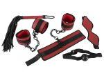 Красно-черный набор из 5 предметов для БДСМ-игр #80858