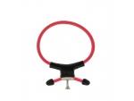 Красно-чёрное эрекционное кольцо с утяжкой RING OF POWER ADJUSTABLE RING #82803