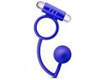 Синее эрекционное кольцо Penetrator Anal Ball with Vibrating Cock Ring #83109
