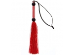 Красная мини-плеть из силикона и акрила SILICONE FLOGGER WHIP - 25,6 см. #83118