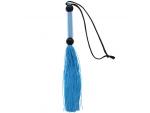 Голубая мини-плеть из силикона и акрила SILICONE FLOGGER WHIP - 25,6 см. #83120