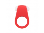 Красное эрекционное кольцо LIT-UP SILICONE STIMU RING 4
