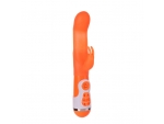 Оранжевый вибратор с клиторальной стимуляцией INSTYLE DUO VIBRATOR 5.5INCH - 14 см.