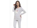 Пижама с длинным рукавом и крупной звездой #93724