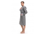 Мужской халат с запахом и карманами #94419