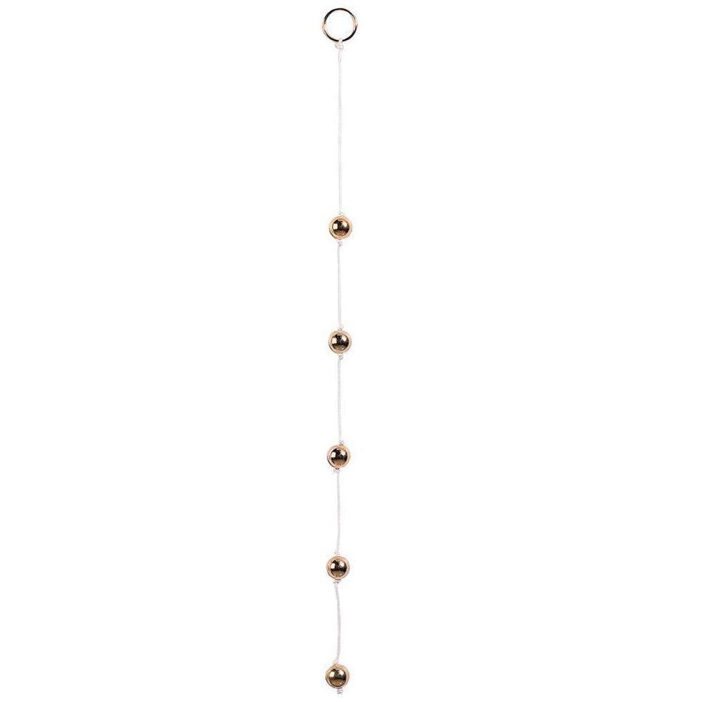 Цепочка из пяти золотистых анальных шариков - фото 204256