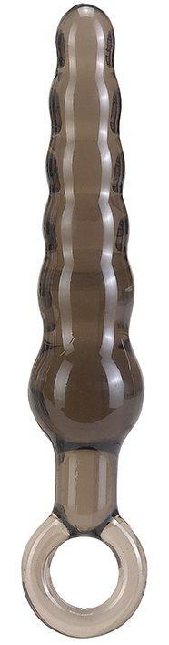 Дымчатая фигурная анальная ёлочка ANAL STICK - 14 см. - фото 204698