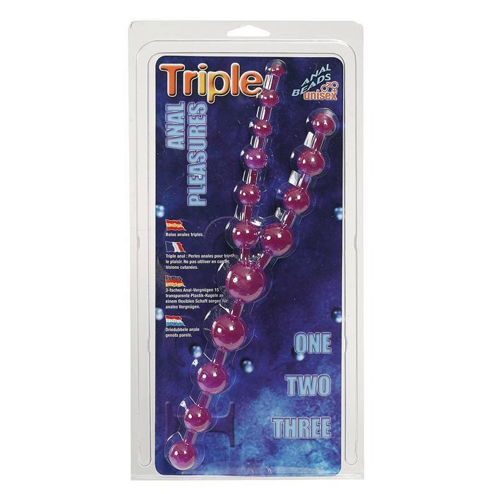 Цепочка фиолетовых анальных шариков - фото 204704