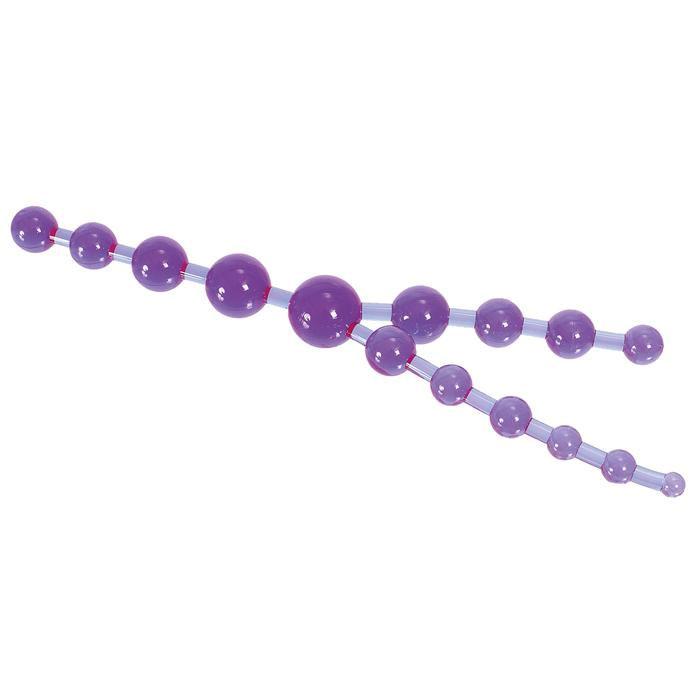 Цепочка фиолетовых анальных шариков - фото 204703