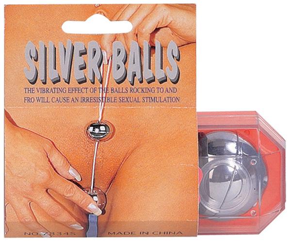 Серебристые вагинальные шарики