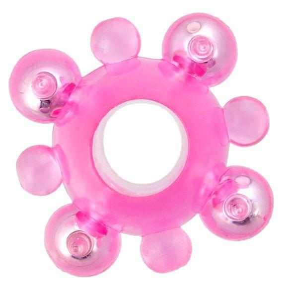 Эрекционное кольцо c бусинками - фото 129091