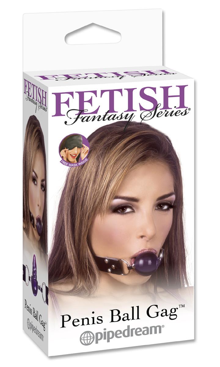 Фиолетовый гелевый кляп-фаллос Penis Ball Gag - фото 205072
