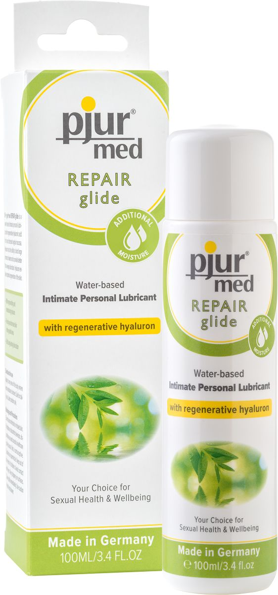 Регенирирующий лубрикант с гиалуроновой кислотой pjur MED Repair glide - 100 мл.