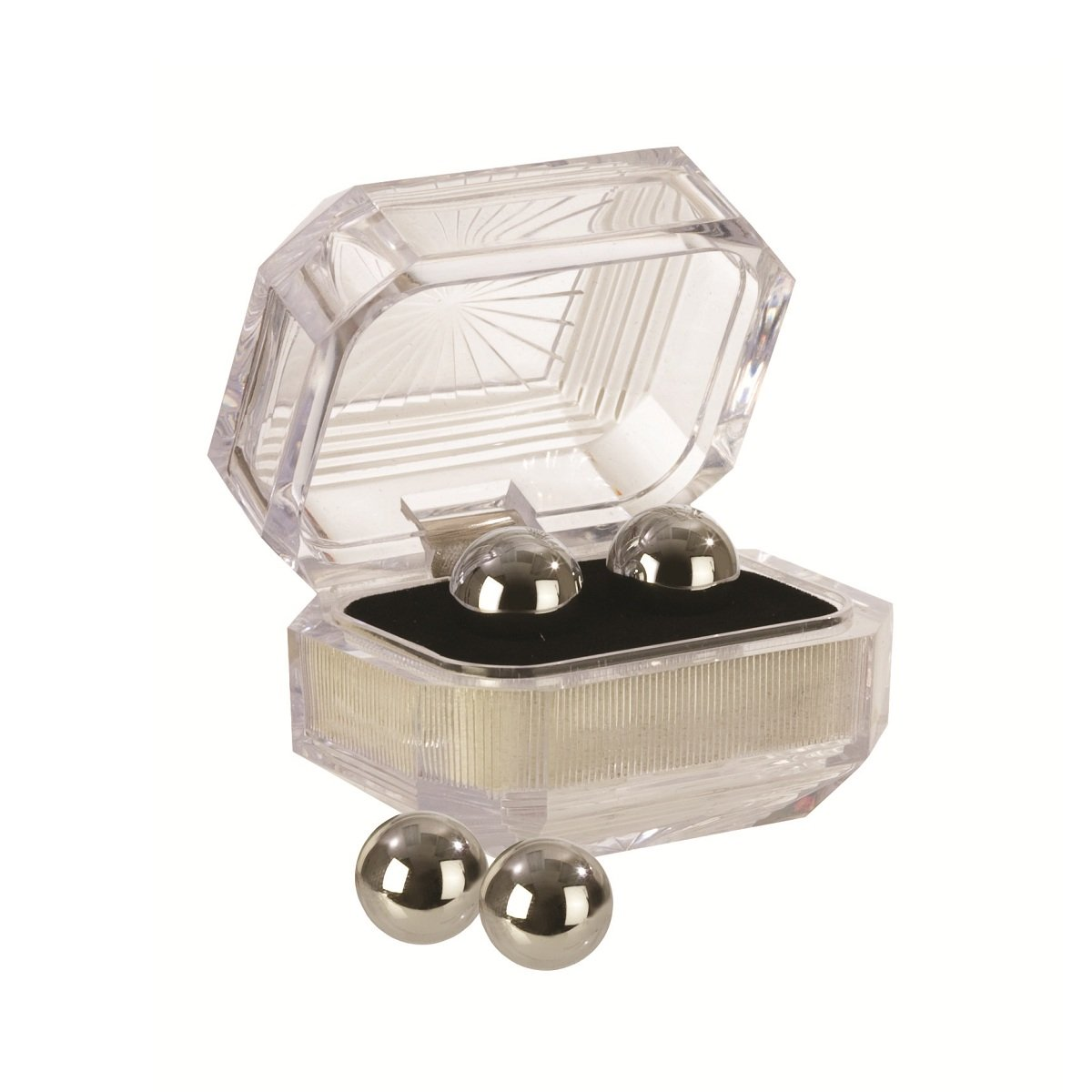 Серебристые вагинальные шарики Silver Balls In Presentation Box