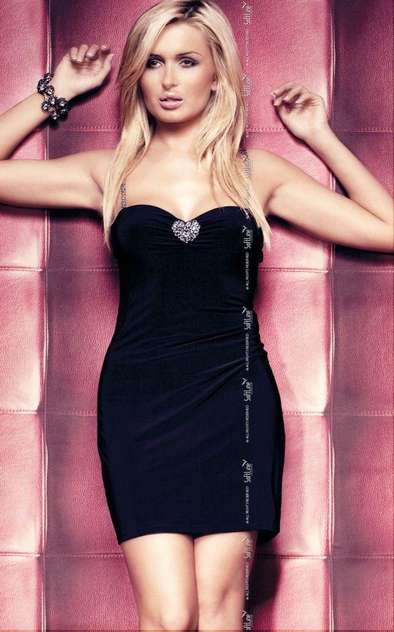 Черное эротичное платье Elly - фото 130812
