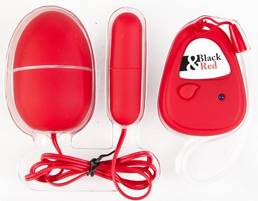Красный вибронабор с пультом ДУ