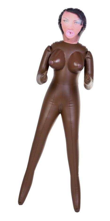 Чернокожая секс-кукла с 3 отверстиями