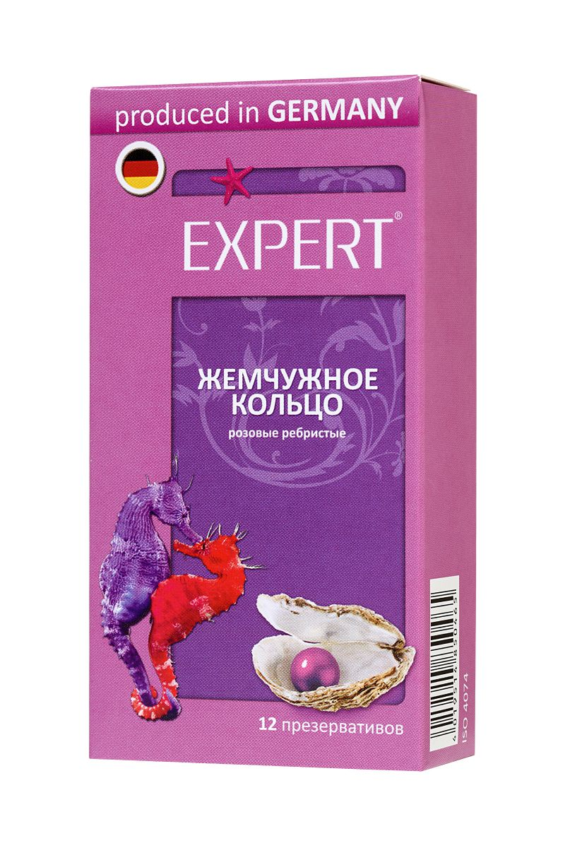 Презервативы с ребрами Expert  Жемчужное кольцо  - 12 шт.