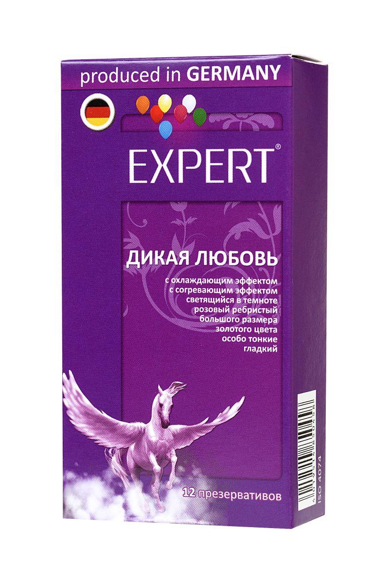Презервативы с точками и ребрами Expert  Дикая любовь  - 12 шт.