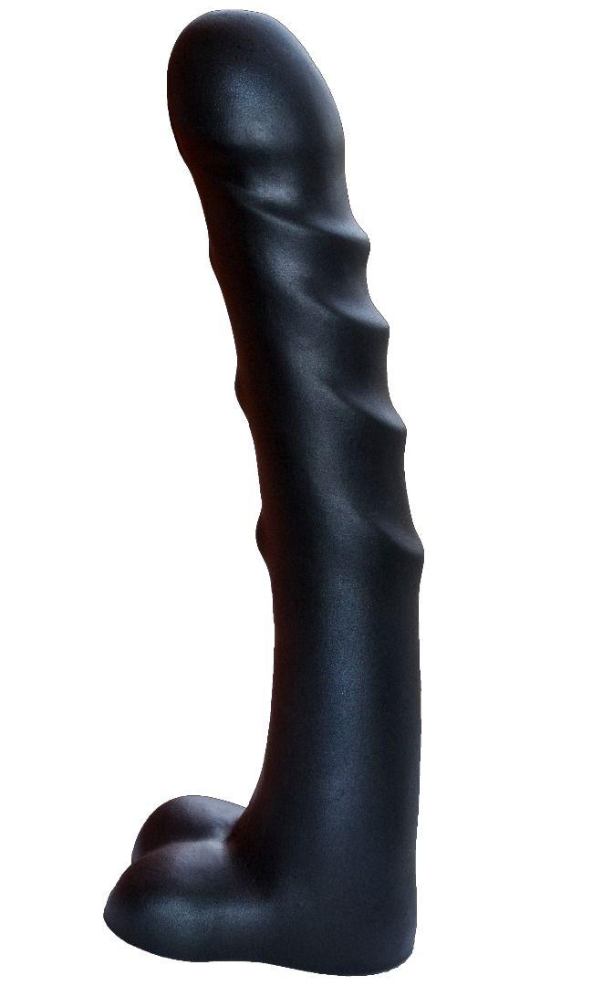 Чёрный фаллоимитатор-гигант PREDATOR - 37 см.