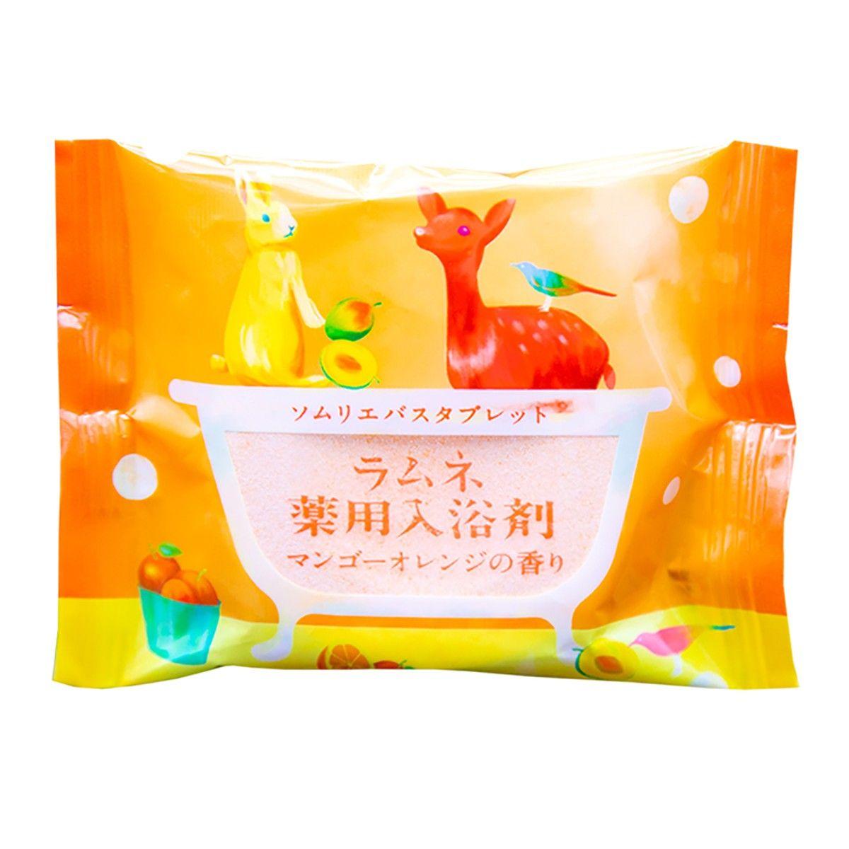 Расслабляющая соль-таблетка для ванны с ароматом манго и апельсина - 40 гр.