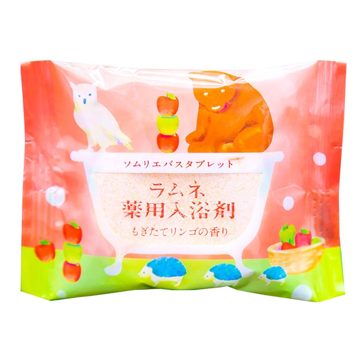 Расслабляющая соль-таблетка для ванны с ароматом свежих яблок - 40 гр.