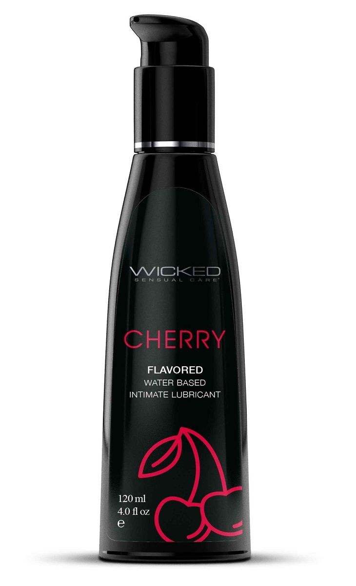 Лубрикант с ароматом сладкой вишни WICKED AQUA Cherry - 120 мл.