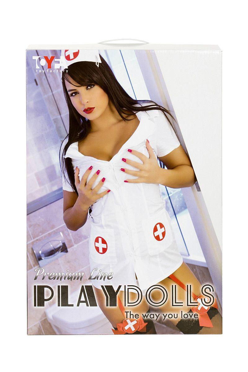 Надувная кукла-медсестра с реалистичной головой
