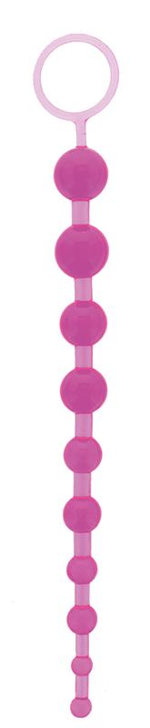 Фиолетовая анальная цепочка ORIENTAL JELLY BUTT BEADS 10.5 PURPLE - 26,7 см.