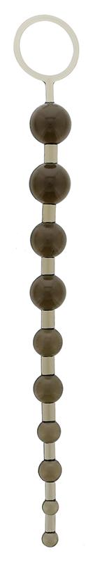 Дымчатая анальная цепочка - 26,7 см.