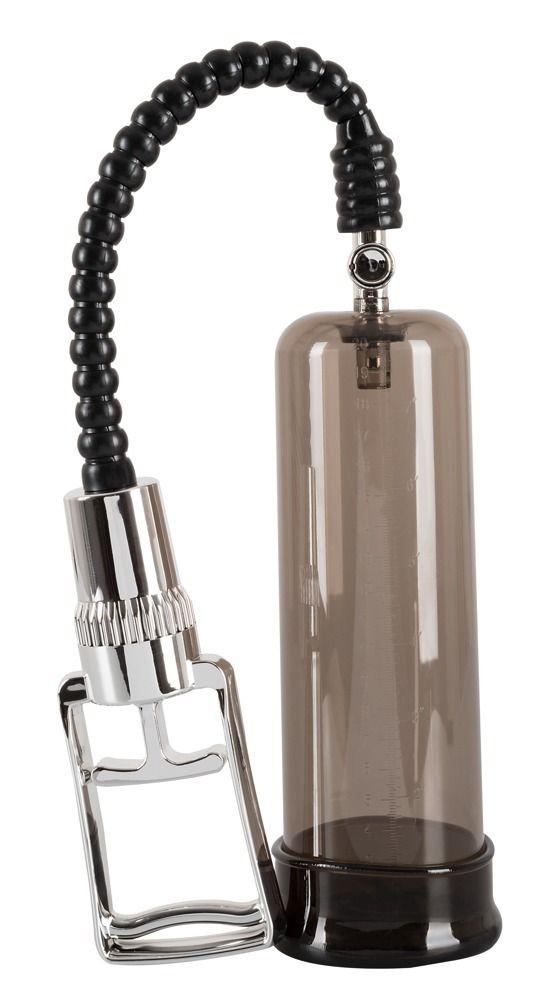 Черная вакуумная помпа-эректор - 21 см.