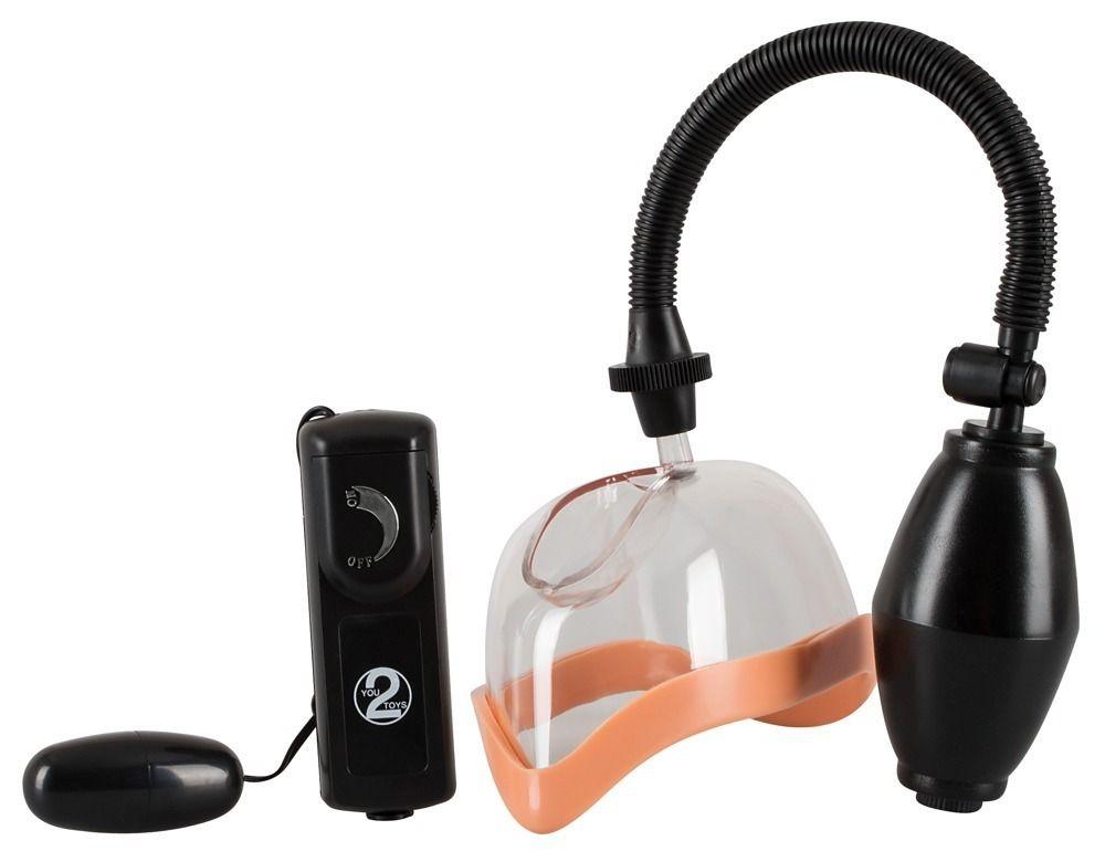 Женская вакуумная помпа с вибрацией и грушей - фото 217180