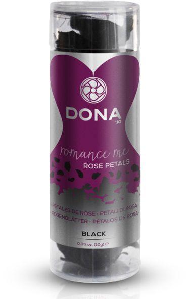 Декоративные чёрные лепестки роз DONA Rose Petals