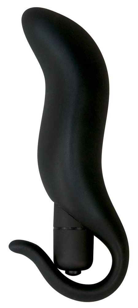 Черная анальная вибровтулка Black Velvet - 13 см.