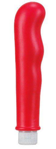 Красный вибромассажёр с наплывами Pure Vibes - 17,8 см.
