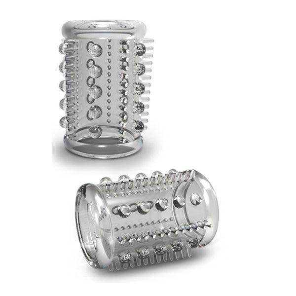 Прозрачная насадка с шипами и шишечками STAY HARD COCK SLEEVE 03 CLEAR