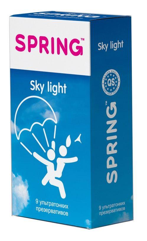 Ультратонкие презервативы SPRING SKY LIGHT - 9 шт.