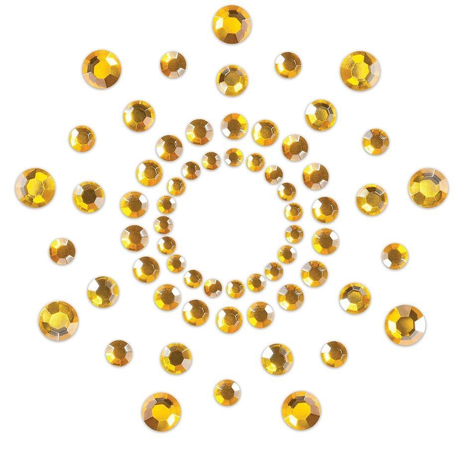 Золотистые наклейки на грудь Mimi Bijoux